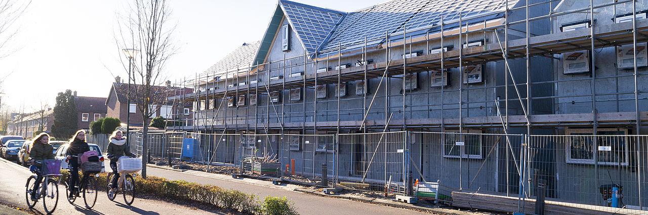 Huizen in aanbouw